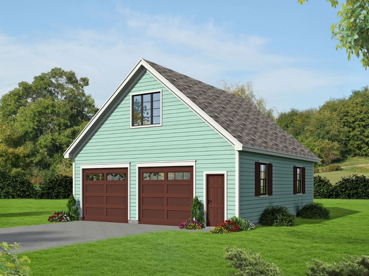2 Car Detached Garage With Man Cave Above: 4-Car Tandem Garage With Man-Cave Above