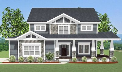 Craftsman house plan with l shaped porch 46301la for L shaped craftsman home plans