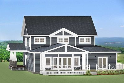 Craftsman House Plan with L-Shaped Porch - 46301LA thumb - 03