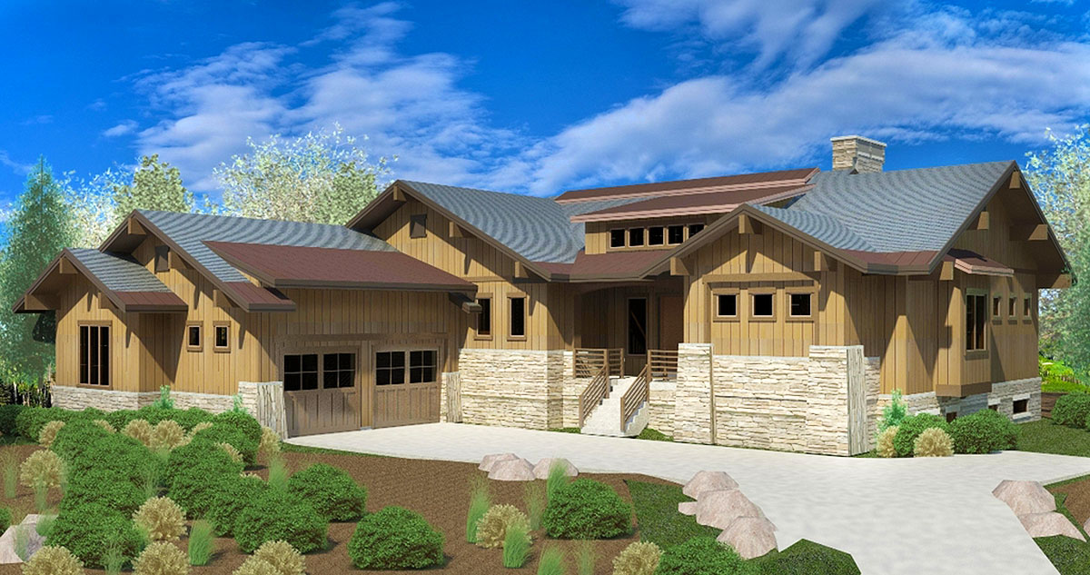 Craftsman House Plan With Two Master Suites