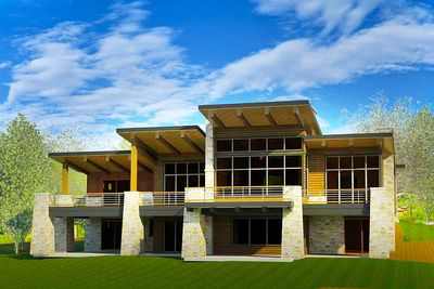 5 Bed Modern House Plan For A Sloping Lot 290023iy