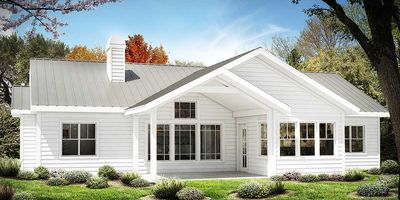 one story farmhouse plan 25630ge thumb 02 - One Story Farmhouse Plans