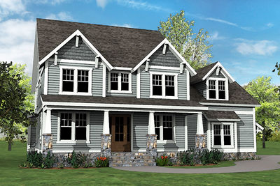 Craftsman House Plan With Main Floor Game Room And Bonus Over Garage    500007VV Thumb