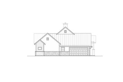 Modern hill country house plan with side load garage for Corner lot house plans with side load garage