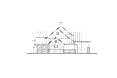 Modern hill country house plan with side load garage for Modern hill country house plans