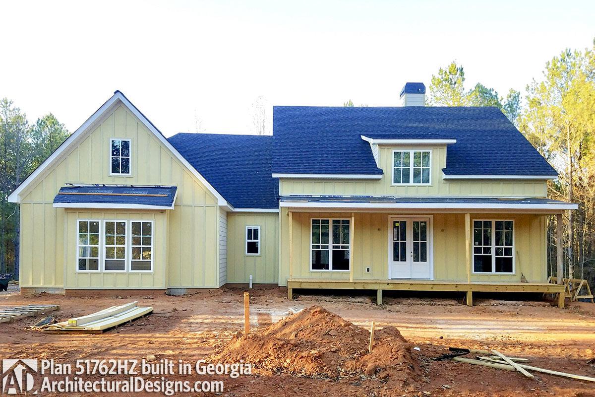 Charming Modern Farmhouse Plan 51762HZ Comes To Life In Georgia   Photo 001