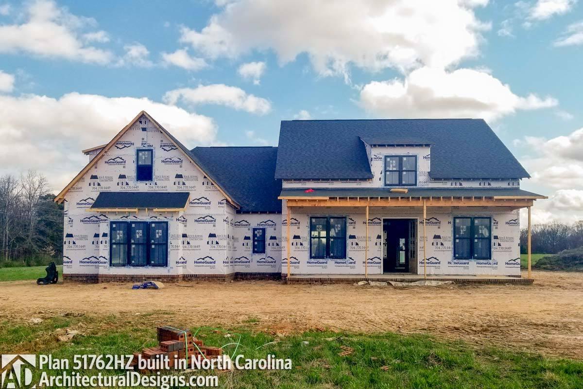 Modern Farmhouse Plan 51762HZ Comes To Life In North Carolina   Photo 001