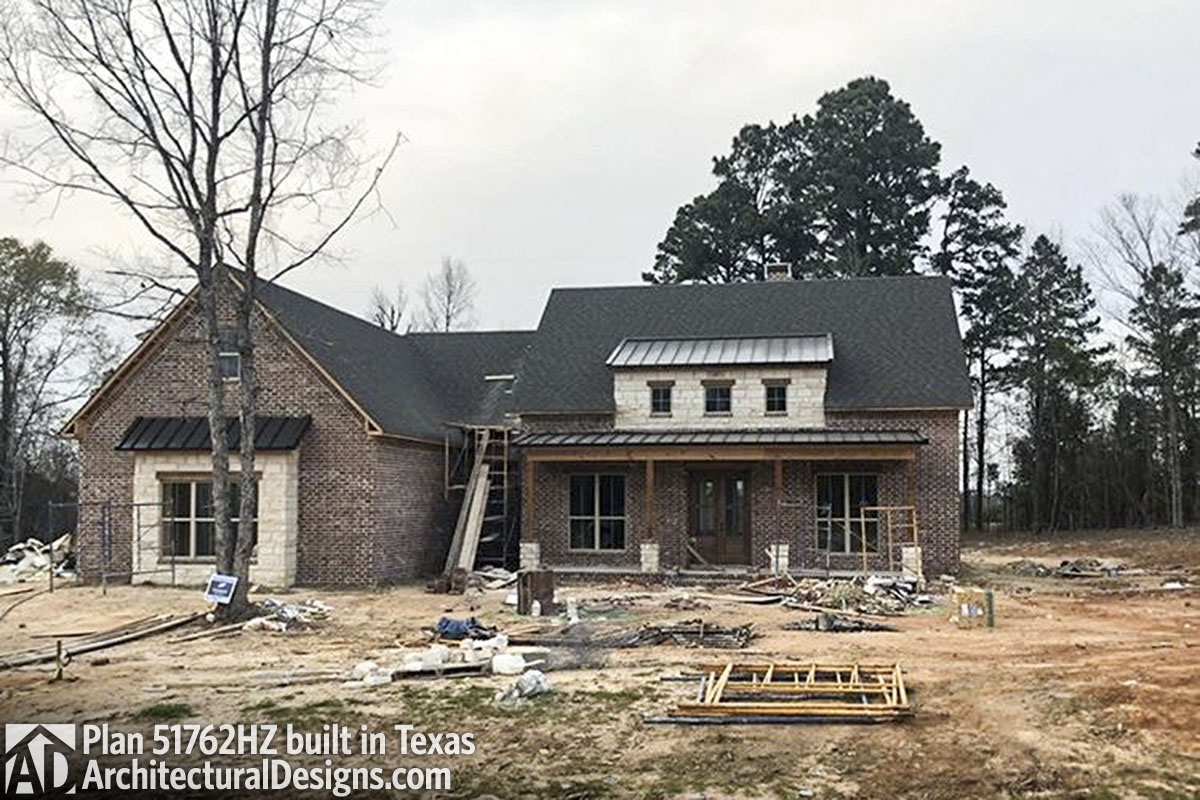 House Plan 51762HZ Built Hill Country Style In Texas   Photo 001