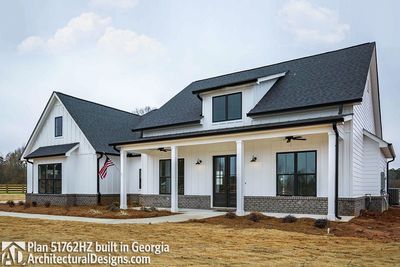 Bud Friendly Modern Farmhouse Plan with Bonus Room HZ