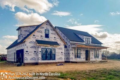 Awesome ... Modern Farmhouse Plan 51762HZ Comes To Life In North Carolina   Photo  002 ...