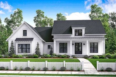 Budget Friendly Modern Farmhouse Plan With Bonus Room   51762HZ Thumb   01