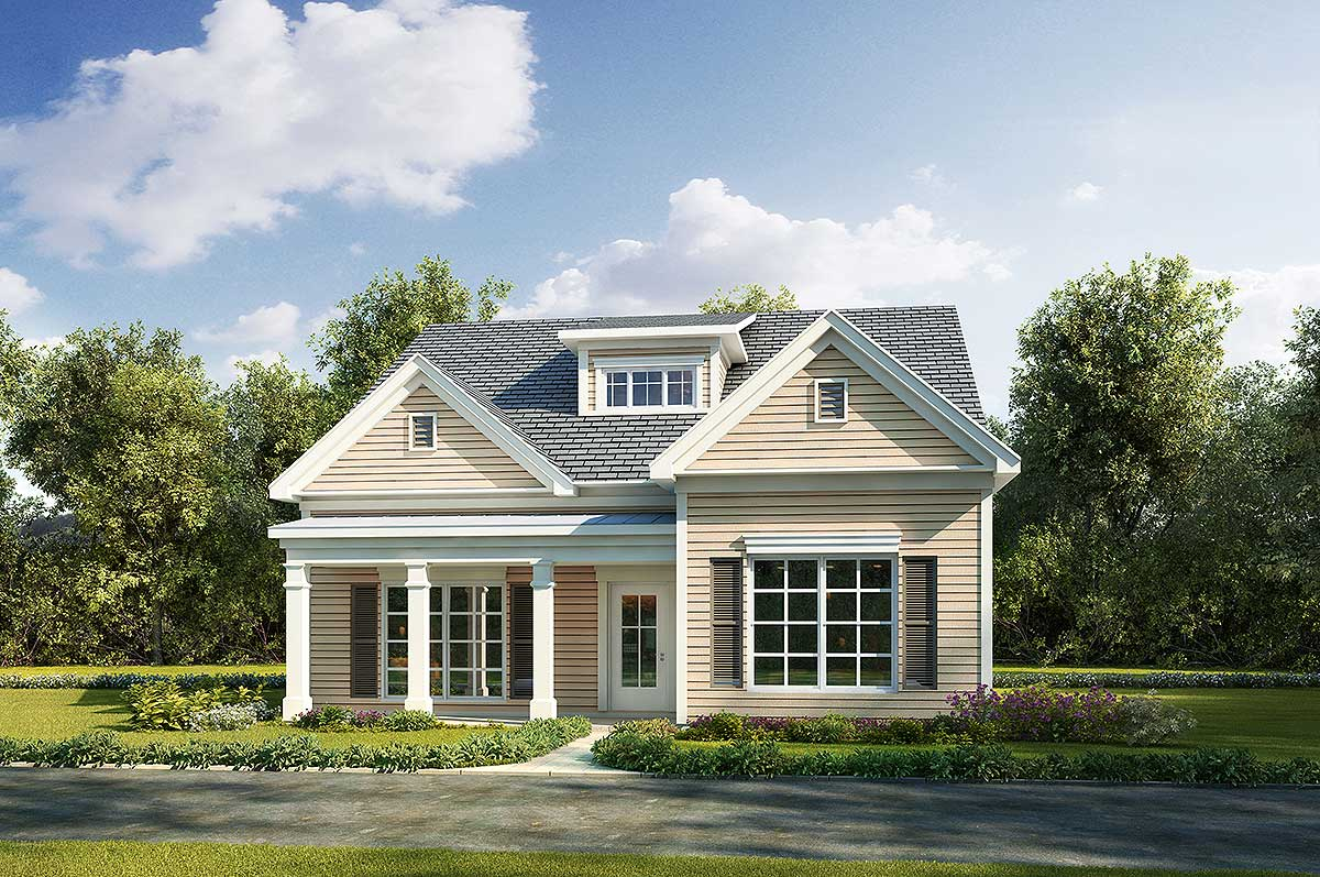 Adorable Narrow Lot Cottage House Plan 36099dk 1st