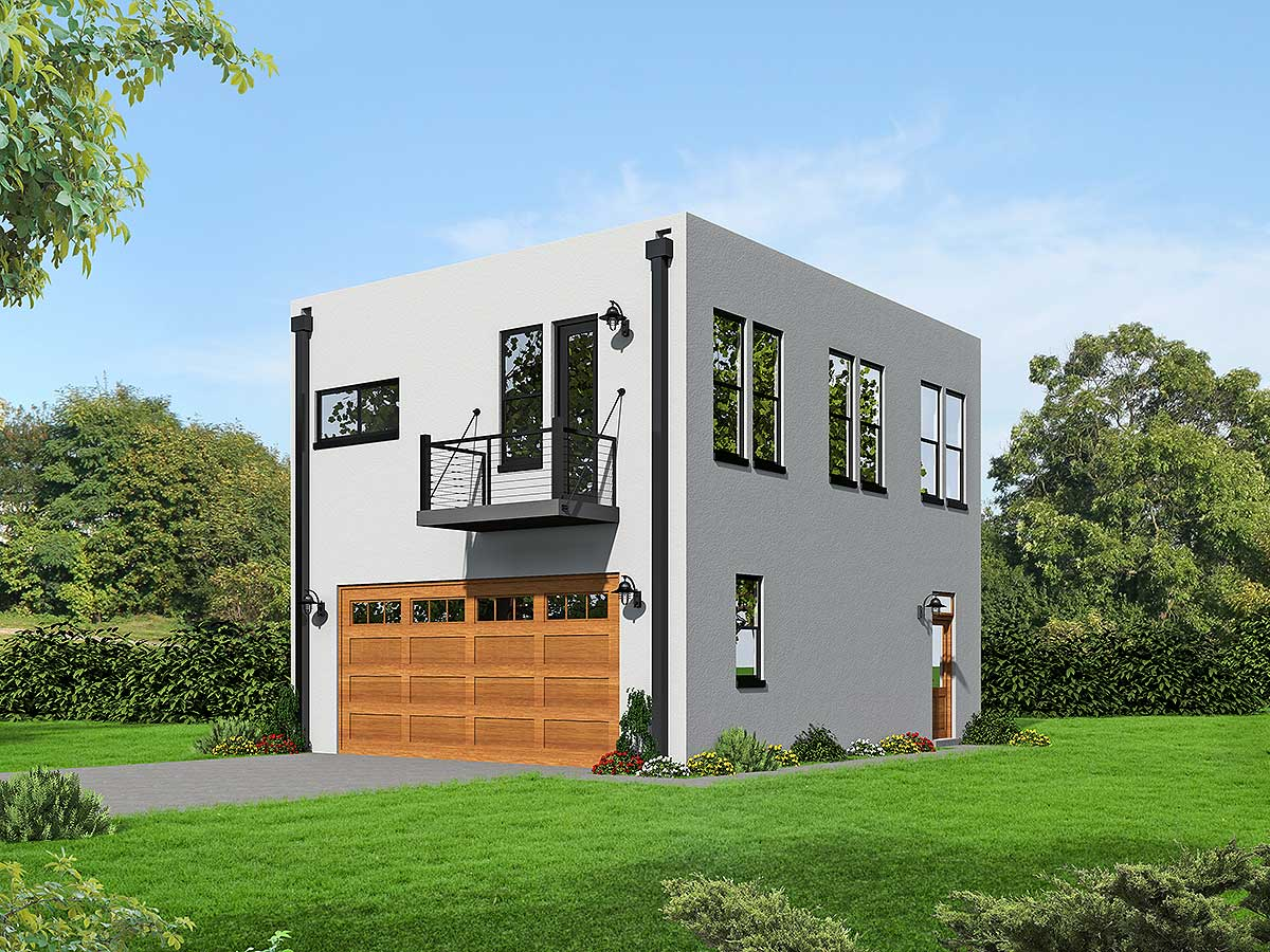 Modern cube shaped house plan 68472vr architectural for Cube home plans