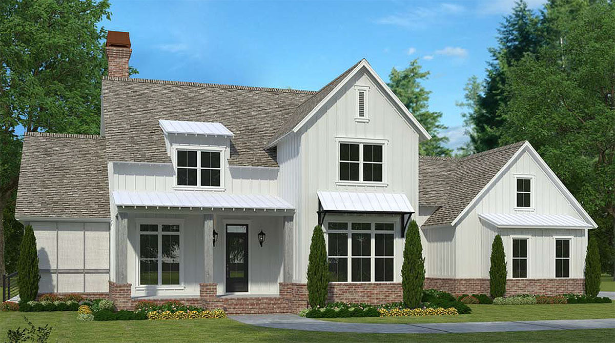 Modern Farmhouse With Integrated In Law Apartment 960000nck Architectural Designs House Plans