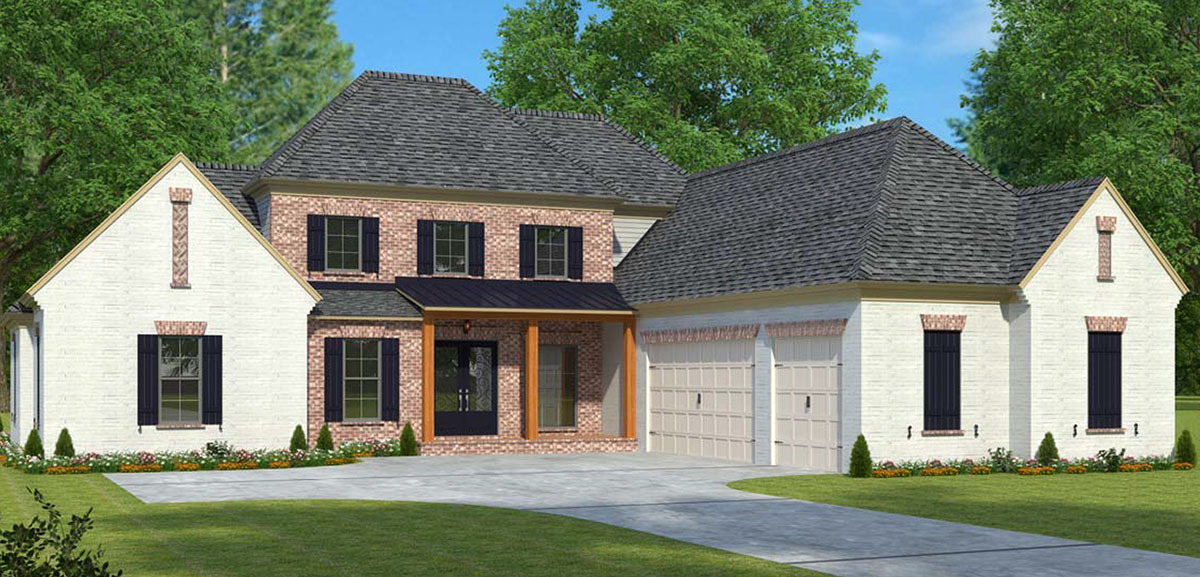 Two story acadian house plan 960003nck architectural for 2 story acadian house plans