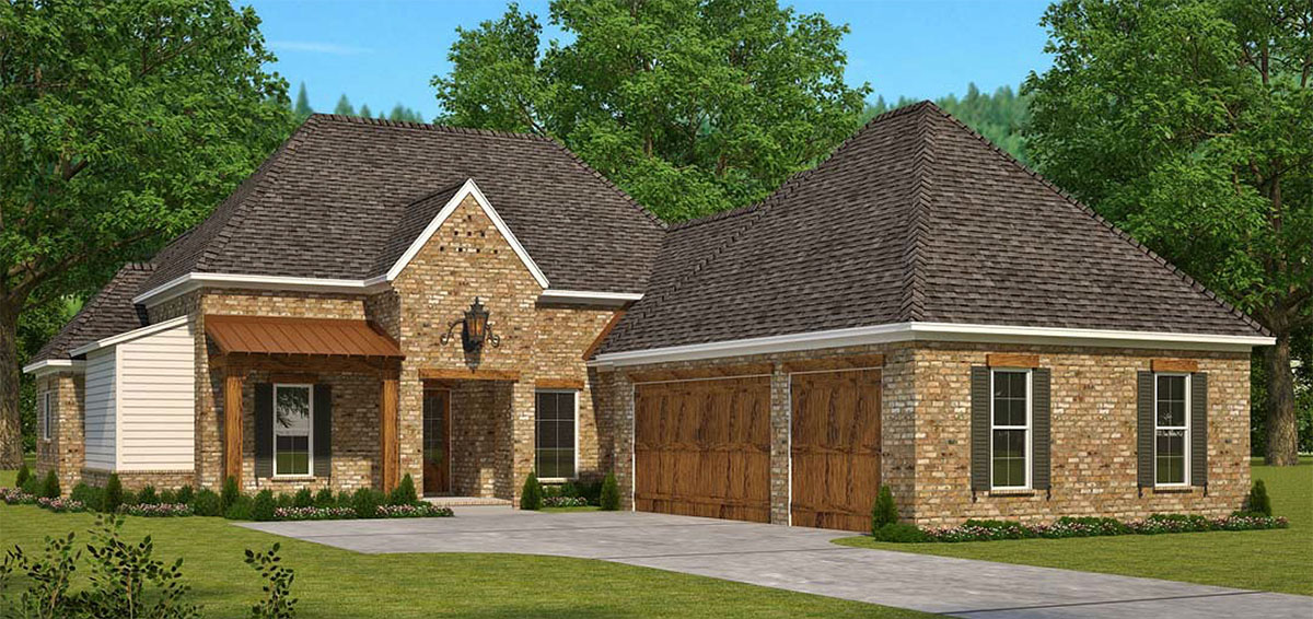 Southern house plan with future expansion 960010nck for House plans designed for future expansion