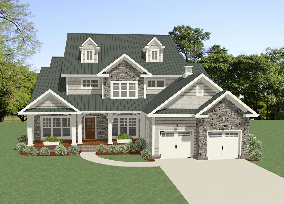 Traditional house plan with terrific storage 46303la for Architectural plan storage