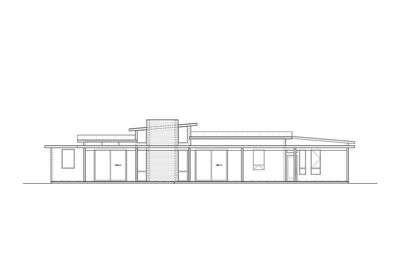 Mid-Century Modern House Plan with Courtyard - 430010LY thumb - 04