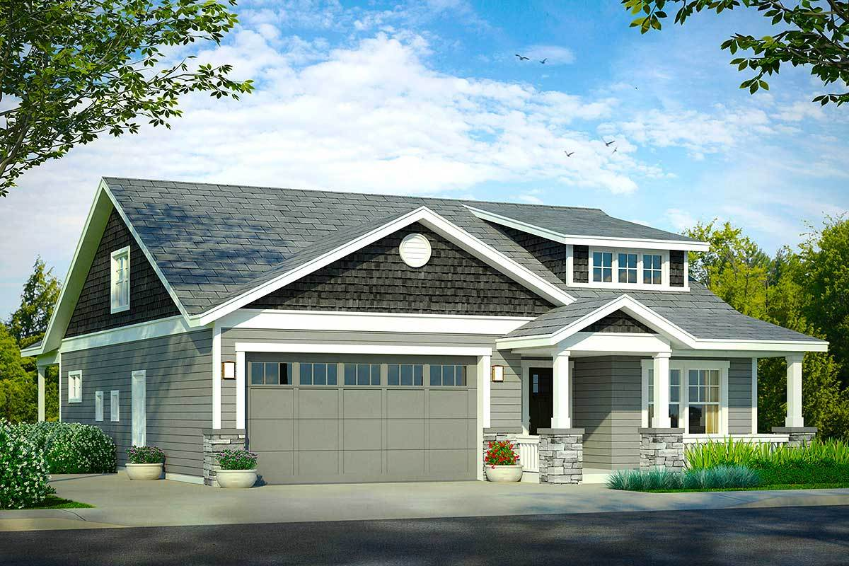 Bungalow for your narrow lot 72862da architectural for Bungalow house plans for narrow lots