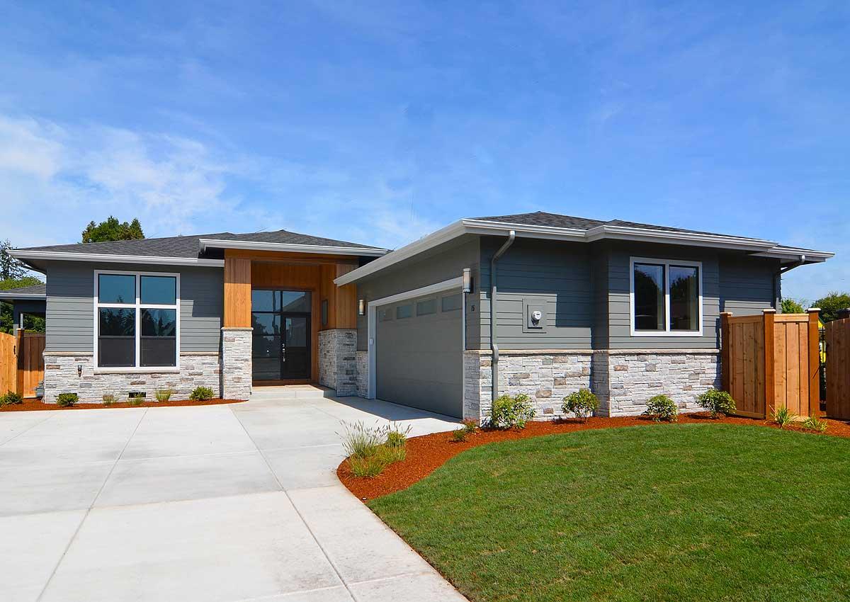 Modern prairie style house plan with 3 beds 72866da for Contemporary prairie style house plans