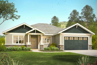 Open concept craftsman with flex space 72867da for Open concept craftsman house plans