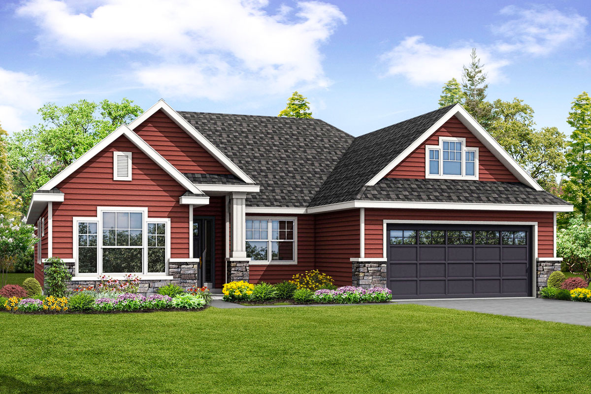Traditional ranch house plan with bonus room 72872da for House plans with bonus room