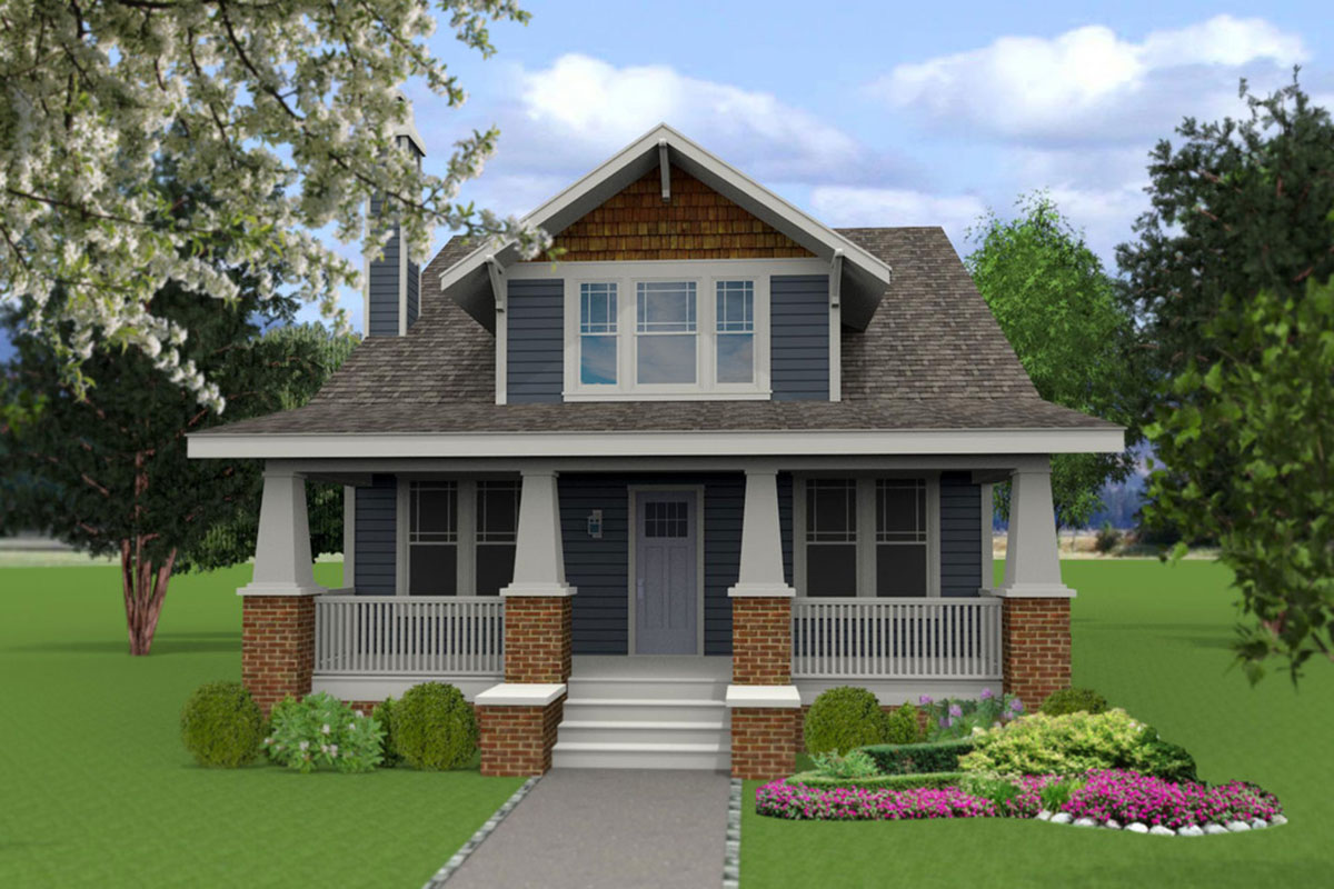 4 bedroom craftsman house plan with flex room 50147ph for 4 bedroom craftsman house plans