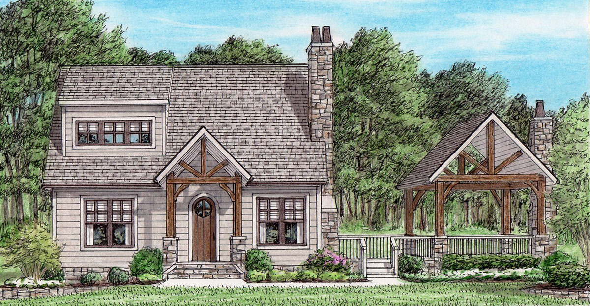 craftsman house plan with outdoor living space 94047ch architectural designs house plans. Black Bedroom Furniture Sets. Home Design Ideas