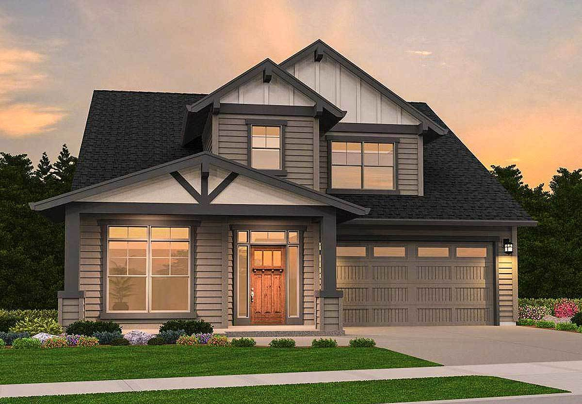 Northwest house plan with second floor loft 85163ms for Northwest house designs