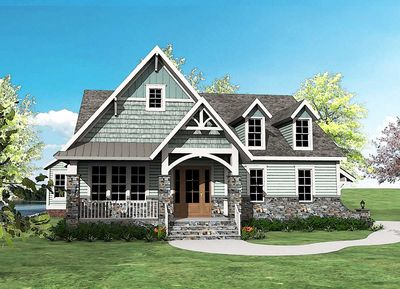 Super Good-Looking Craftsman House Plan - 500012VV thumb - 05