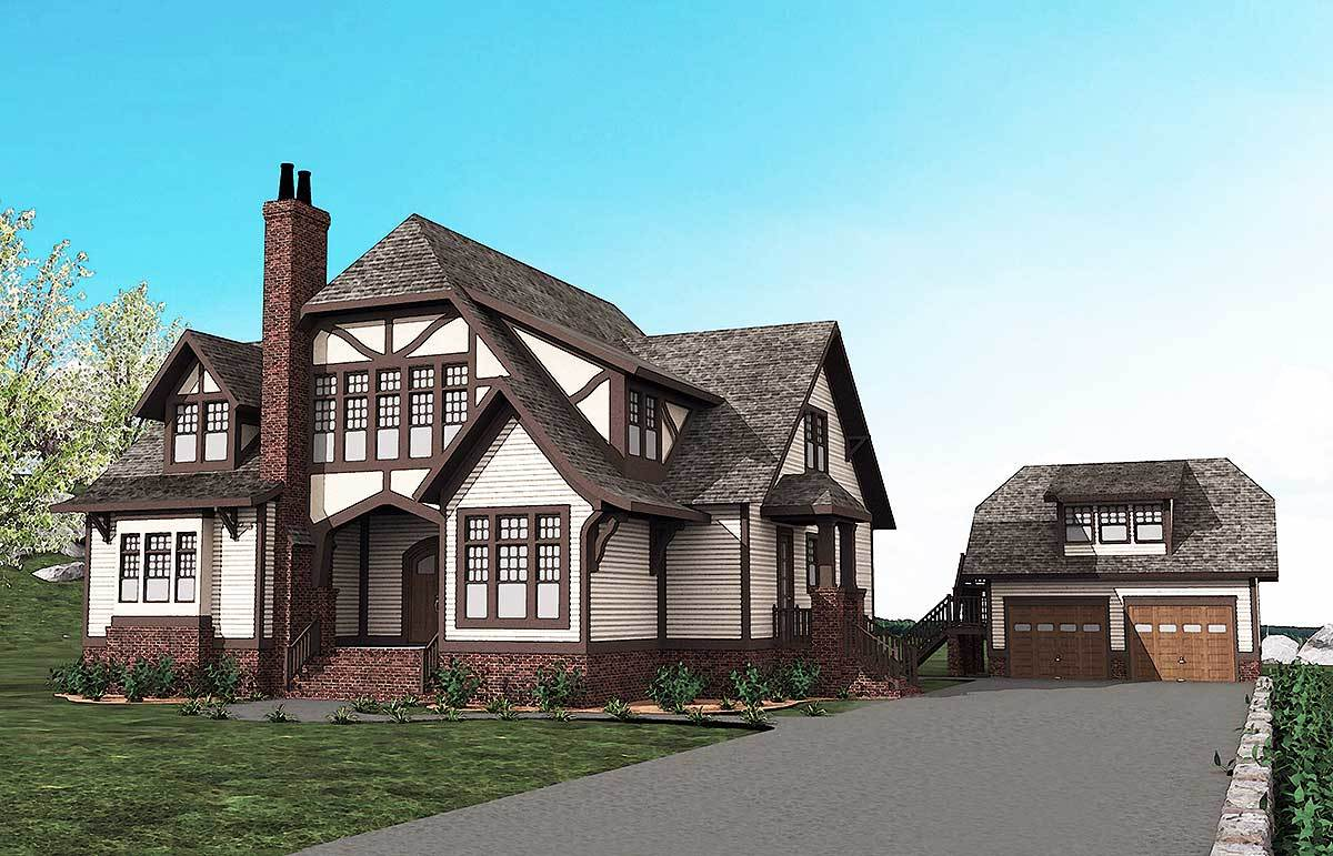 Spacious tudor house plan 500013vv architectural for Tudor house plans with photos