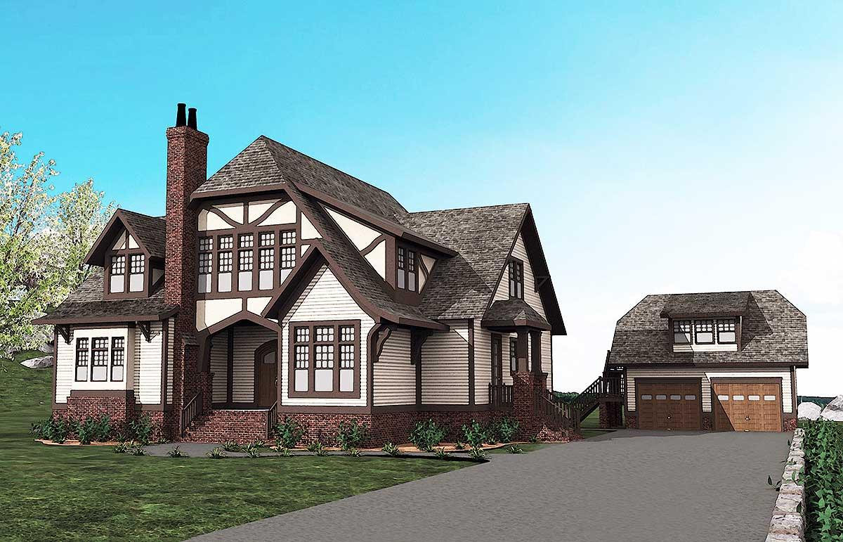 Spacious Tudor House Plan - 500013VV
