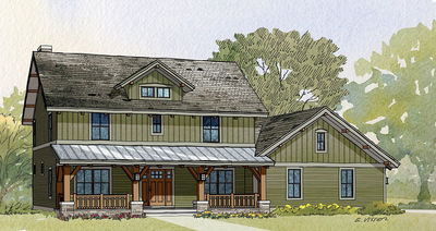 2 story country house plan with garage options 970013vc thumb 02 - 2 Story Country House
