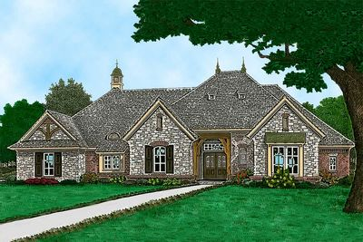 One story european house plan 48563fm architectural for European house plans one story