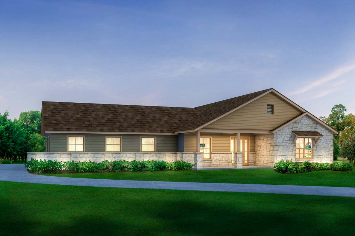 Handsome Modern Texas Ranch House Plan - 430017LY ...