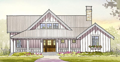Charming Country House Plan with Finished Lower Level - 970047VC thumb - 01