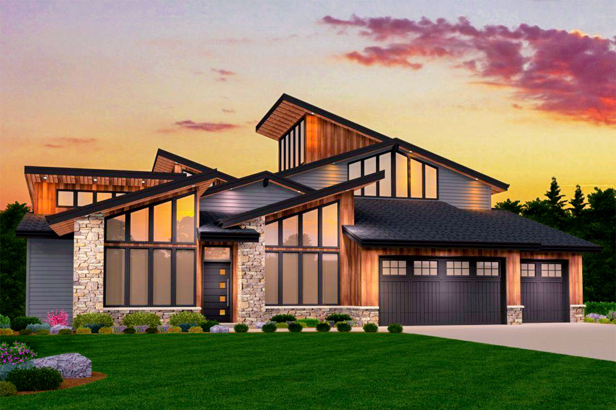 Smash hit modern house plan with two master suites for House plans with 3 master suites