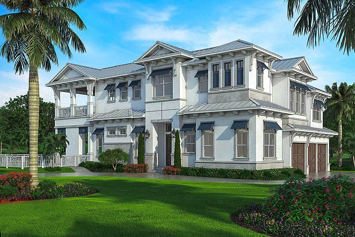 Grand Floridian Style House Plan - 86047BW | Architectural Designs ...