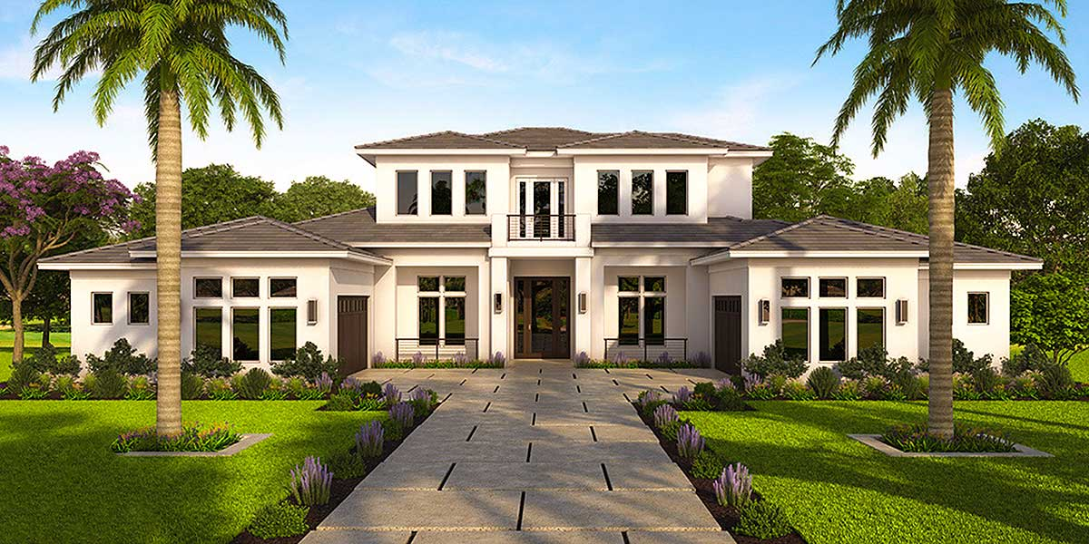 Florida house plan with open layout 86049bw for South florida house plans
