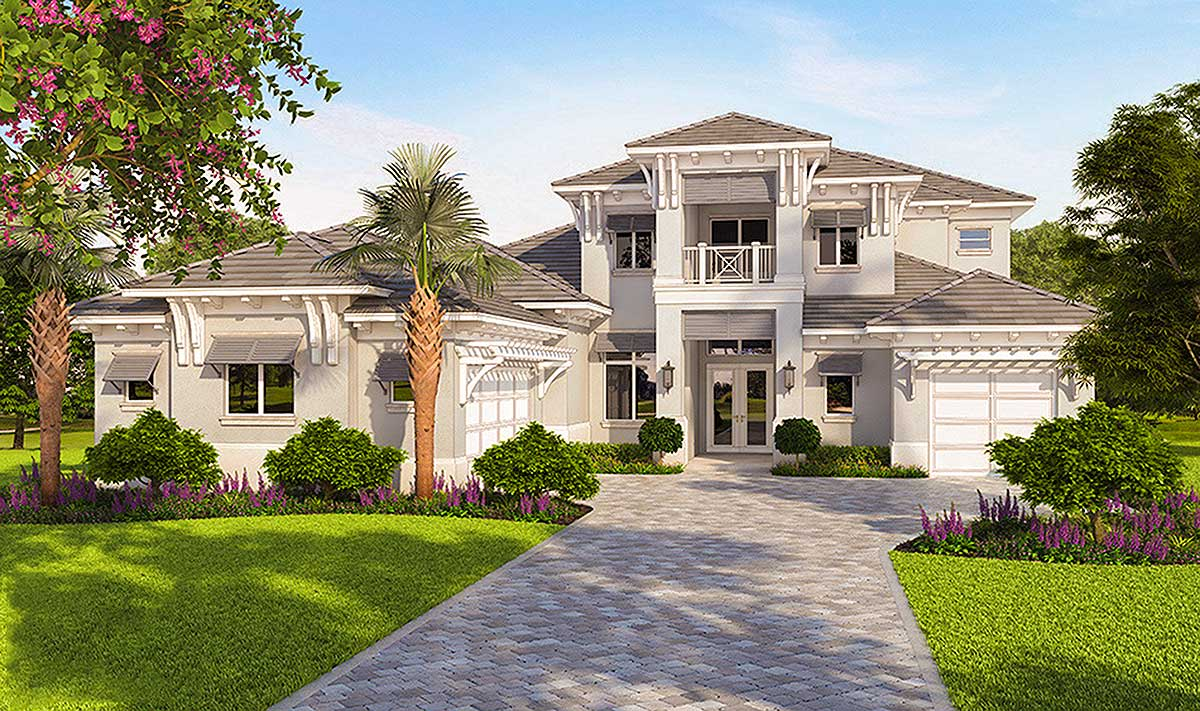 High end florida house plan 86050bw architectural for Florida cottage plans