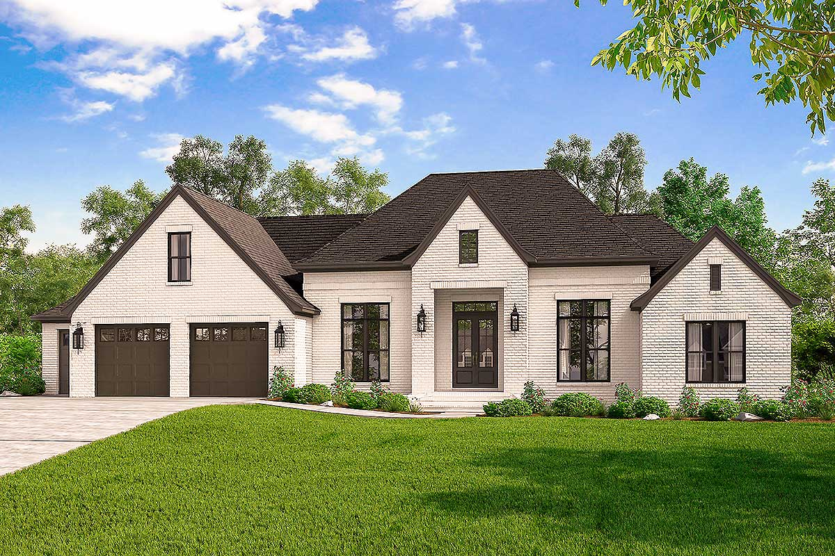 Country Home Designs: Exclusive 4-Bed French Country Home Plan With Optional
