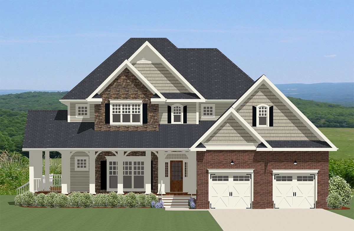 Southern House Plan With Wrap-Around Deck And Porch