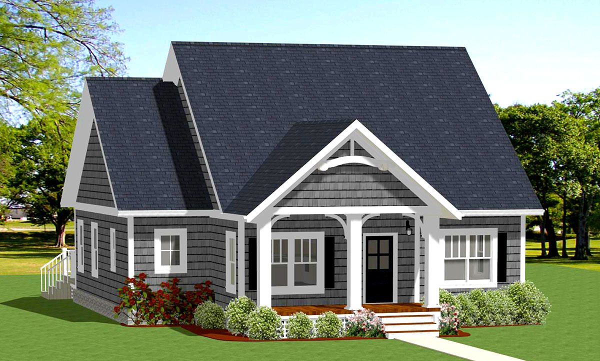 Cozy and compact cottage 46312la architectural designs for Cosy house plans