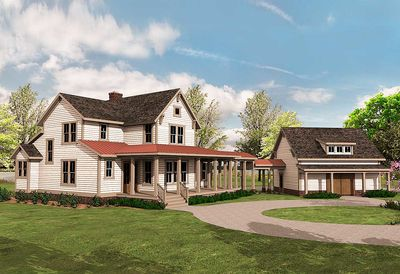 Quintessential American Farmhouse with Detached Garage and Breezeway - 500018VV thumb - 17
