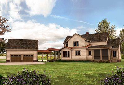 Quintessential American Farmhouse with Detached Garage and Breezeway - 500018VV thumb - 18