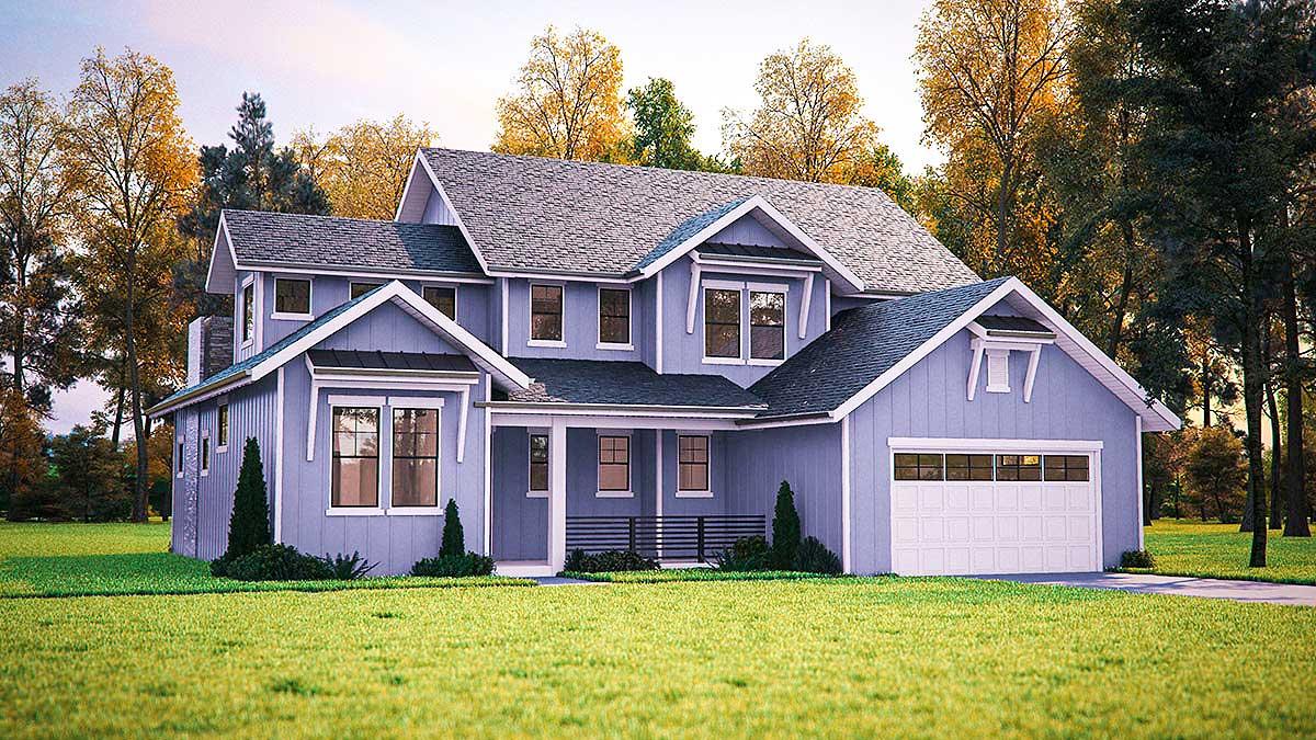 Northwest farmhouse house plan 95040rw architectural for Nw house plans