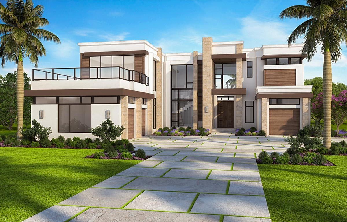 Marvelous contemporary house plan with options 86052bw for Modern houses in florida