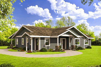 Northwest Style Ranch House Plan 35560GH Architectural Designs