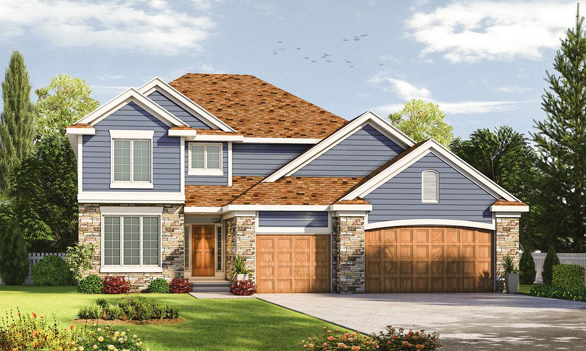 Flexible Traditional House Plan - 42492DB