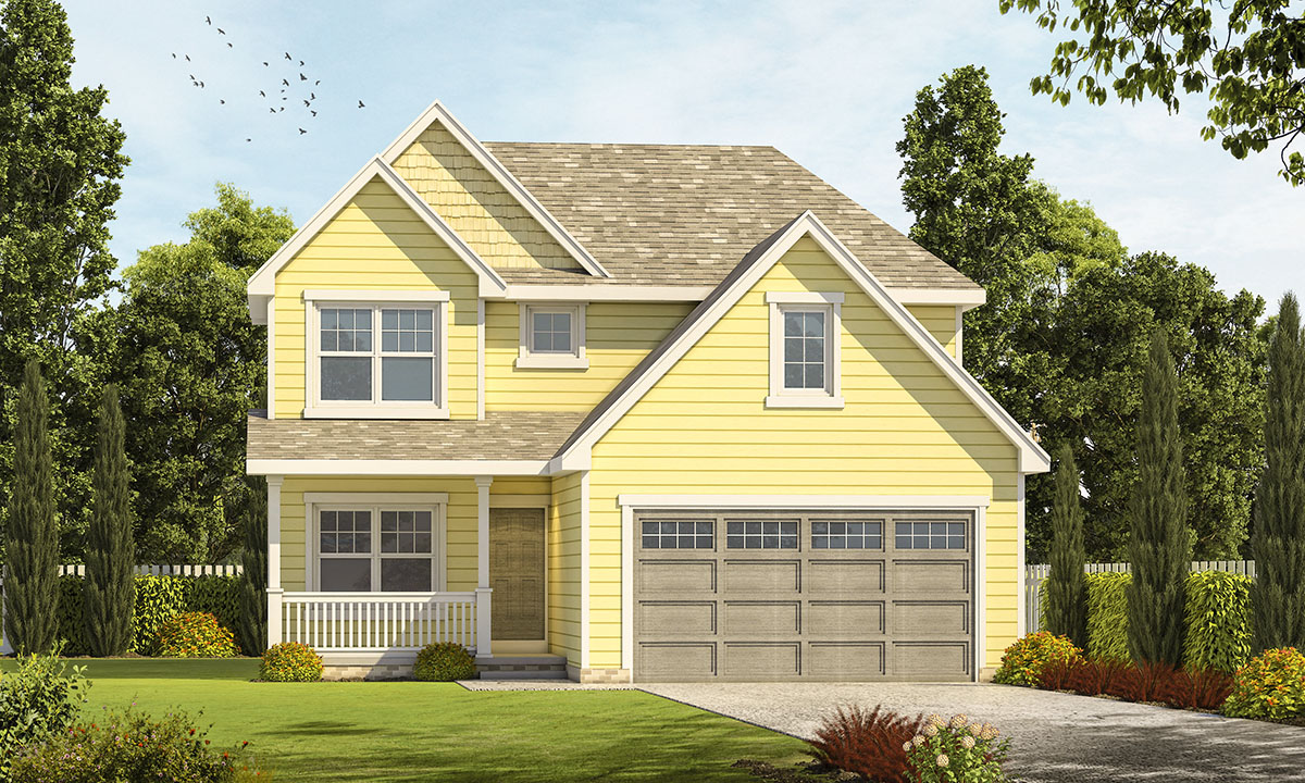 Compact traditional house plan 42494db architectural - Traditional home plans and designs ...